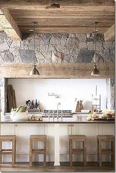 Kitchen Design Ideas with Stone Walls 17