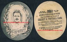 1889 Bob Seddon World Rugby Hall of Fame legendary player, on a memorial card by Baines Litho of Manningham. Seddon was England and GB rugby tour captain, to Oz, in when he drowned at sea. World Rugby, World Football, Football Soccer, Soccer Cards, Football Cards, Memorial Cards, Rarity, Bob, England