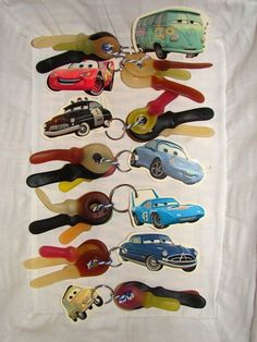 Cars keychains for the boys Check www. Kids Birthday Treats, Cars Birthday Parties, Boy Birthday, Classroom Treats, School Treats, Happy B Day, Party Treats, Kids Corner, Childrens Party