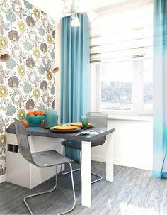 Как выбрать обои для маленькой кухни Kitchen Interior, Interior Design Living Room, Kitchen Design, Interior Decorating, Apartment Design, Interior Inspiration, Home Kitchens, Kitchen Remodel, Diy Home Decor
