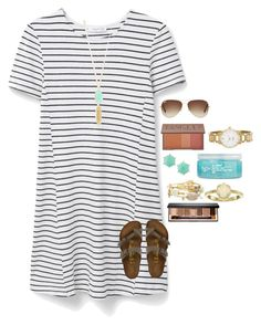 """When you type a long description and it deletes"" by avaodom ❤ liked on Polyvore featuring MANGO, Birkenstock, Ray-Ban, Urban Decay, Panacea, Bourbon and Boweties, H2O+, Bobbi Brown Cosmetics, Kendra Scott and Kate Spade"