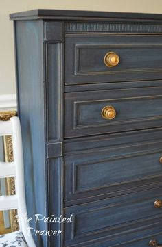 General Finishes Milk Paint and in Coastal Blue, Navy A Set in Coastal Blue