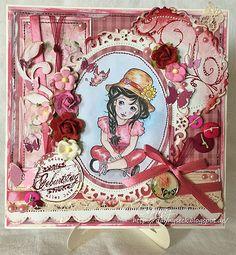 Charming Spring Girl - Digital Stamp