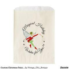 Custom Christmas Fairy Party Favor Bags