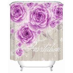 Elegant Waterproof Quality Pretty Custom Shower Curtains 7 Sizes 9 Designs-