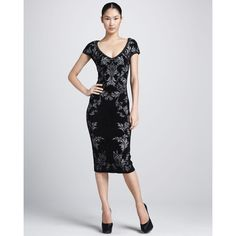 Zac Posen Bonded Jacquard Sheath Dress ($2,290) ❤ liked on Polyvore