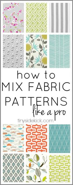 how to mix fabric patterns like a pro - tinysidekick.com - home blog to follow