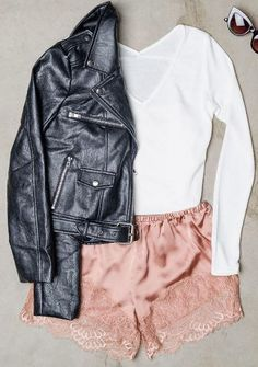Love these lace trim shorts