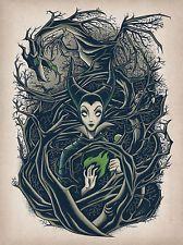 Disney Wonderground Gallery Maleficent Postcard BY Dave Quiggle NEW | eBay