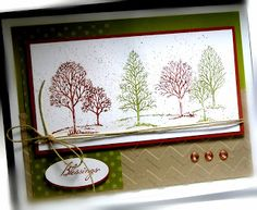 Me, My Stamps and I: Lovely as a Tree Stamps:  Lovely as a Tree, Paper:  Cajun Craze, Old Olive, Crumb Cake, Whisper White, pattern DSP Ink:  Cajun Craze, Old Olive Accessories:  twine, eyelets Tools: Big Shot, Chevron EF, Crop-a-dile, spritzer