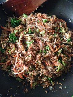 Asian quinoa: fried rice style
