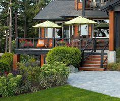 schwarz Farbe Garten Gestaltung Haus Fassade Terrasse