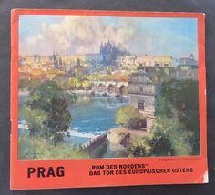 c. late 1930's CZECHOSLOVAKIA  Prag Prague Charles Bridge Hradcany German Text