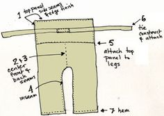 Brain Clutter: Sewing pattern: Thai fisherman pants