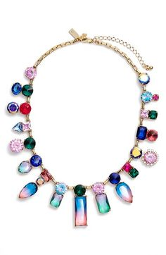Free shipping and returns on kate spade new york 'color crush' statement necklace at Nordstrom.com. Candy-colored crystals are scattered atop a gold-plated collar necklace like a handful of sparkling confetti, bringing festive charm to this party-ready style.