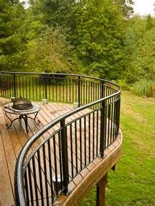 Curved trex glass railing curved trex deck pinterest railings view source and search for Curved metal railings exterior