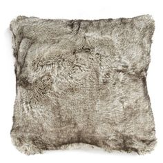Nordstrom At Home Cuddle Up Faux Fur Square Accent Pillow ($68) ❤ liked on Polyvore featuring home, home decor, throw pillows, grey tipped, gray throw pillows, grey home decor, square throw pillows, grey accent pillows and gray home decor