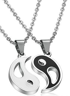 FIBO STEEL Stainless Steel Yin Yang Pendant Necklace for Men Women Puzzle Couples inches men necklace necklace men mens jewelry necklace mens beaded necklace mens accessories necklace mens necklace fashion mens necklace chain Evil Eye Jewelry, Evil Eye Necklace, Men Necklace, Pendant Necklace, Necklace Chain, Beaded Necklace, Couple Necklaces, Necklaces For Men, Diamond Solitaire Necklace