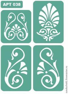 трафарет 038 - зелёный,трафарет,трафареты,Декупаж,материалы для творчества