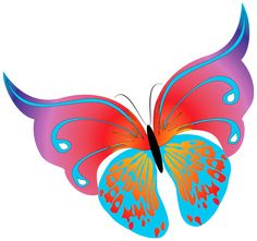 Painted Transparent Butterfly PNG Clipart