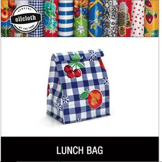 Reuseable lunch Bag made from oil cloth. How cute are these? Different one for each day of the week - new lease on lunch!!!