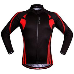 Flame Red Unisex Cycling Jersey Windproof Warm Reflective Breathable Night  Riding MTB Road Bike Shirt Top 2XL d607891dd