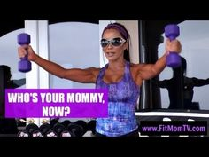 This Week on Fit Mom TV! All levels can do this!  Grab some weights and dive in! Live and recorded fitness classes by Kiana Tom of Kiana's Flex Appeal ESPN fame. Get Super Fit, Moms! www.fitmomtv.com