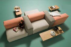 Oblong system sofa produced by Cappellini - Jasper Moriison