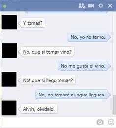 #humor en español...   tipico jaja nadie se entiende en facebook jajaja