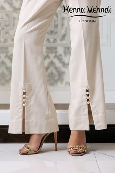 Mix & Match Our Vast Range of Trousers And Salwaars To Compliment That Perfect Outfit Plazzo Pants, Salwar Pants, Trouser Pants, White Trousers, Linen Trousers, Salwar Designs, Blouse Designs, Dress Designs, Moda Fashion