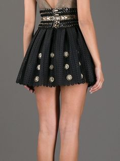 PACO RABANNE - embellished crochet mini skirt