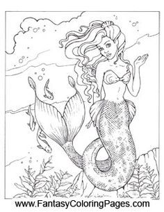 mermaid coloring pages - Free Coloring Pages Mermaids