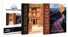 Intro to Archaeology & Geology Bundle only $27.99! 1 year curriculum for target grades 7th – 9th. Earns 1/2 High School Credit.