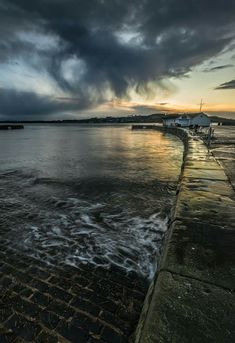 Ferry castle harbour next to where the Ferry's used to do k from Tayport. Dundee, Aberdeen, Scotland, Castle, In This Moment, Celestial, Beach, Water, Outdoor