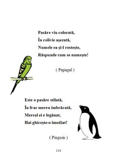 fileshare_200 de ghicitori pentru copii.pdf Early Education, Kids Education, Kids Poems, Toddler Activities, Romania, Montessori, Kindergarten, Parenting, Birds