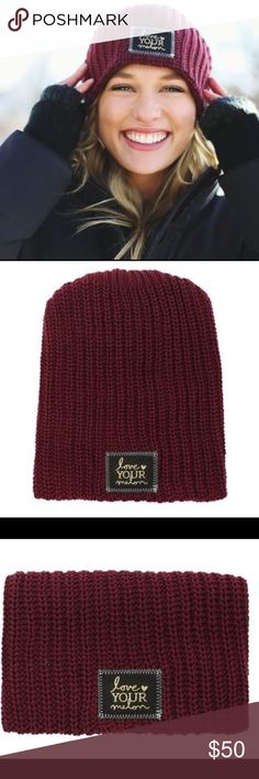 9a3e6e39df983 NWT Maroon Love Your Melon Beanie NWT Maroon Love Your Melon Beanie. Sold  out online