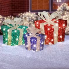 Light up your yard this holiday season with lighted outdoor Christmas decorations from Hammacher Schlemmer. Order lights, holiday trim, inflatables, and more. Christmas Gift Decorations, Holiday Crafts, Holiday Decor, Outdoor Decorations, Christmas Home, Christmas Lights, Christmas Holidays, Outdoor Gifts, Practical Gifts
