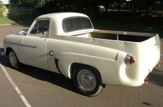 """'52 Vauxhall Velox Ute ... Ute is what they call a """"coupe utility"""" down under. """"Power comes from a small straight six—most sources quote 2.3 liters though here the seller says it's a 2.6L. Output should be on the order of 65 HP or so, sent rearwards through a 3-speed manual."""" Love these things. Never seen one outside of pics."""