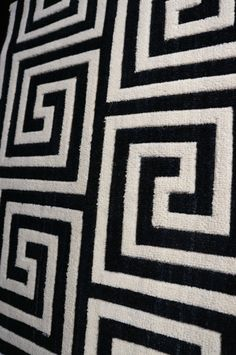 Great looking black and white Greek Key carpet. Available for wall to wall installation, area rugs of any size or stair runners.  Other colors available. Purchase at Hemphill's Rugs & Carpets. www.RugsAndCarpets.com