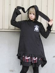 Rabbit-Ear A Line Tunic / See more at http://www.cdjapan.co.jp/apparel/new_arrival.html?brand=DRT #japan punk #japan fashion