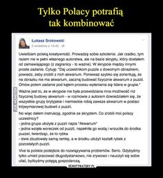 To te Polaki to takie cwaniaki sÄ… Wtf Funny, Funny Memes, Hilarious, Jokes, Take A Smile, English Memes, Got Memes, How To Train Dragon, Funny Stories