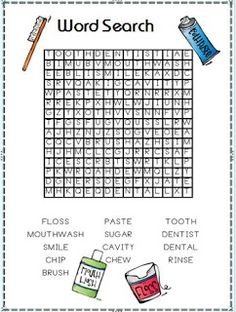 Dental hygiene and a word search
