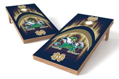 Notre Dame Fighting Irish Cornhole Board Set - Arch (w/Bluetooth Speakers)