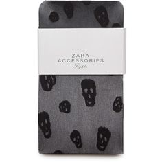 Zara Skulls Tights ($17) ❤ liked on Polyvore featuring intimates, hosiery, tights, accessories, socks, leggings, skull tights and skull stockings