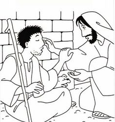 Blind Man Bible Coloring Pages Bible Story Crafts, Bible School Crafts, Bible Crafts For Kids, Bible Lessons For Kids, Bible Stories, Sunday School Activities, Bible Activities, Sunday School Crafts, Saint Esprit