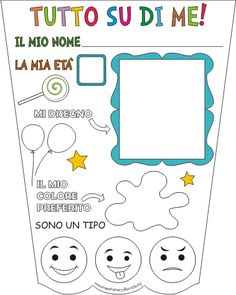 Scheda per la continuità e per l'accoglienza Beginning Of The School Year, First Day Of School, I School, Back To School, Baby Park, Text Types, All Kids, Kids And Parenting, Crafts For Kids