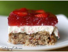"Amazing Strawberry ""Pretzel"" Salad"
