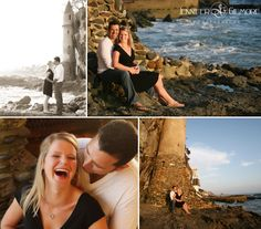 Laguna Beach, CA Victoria engagement photography idea, lighthouse, beach, ocean, rocks, Gilmore Studios