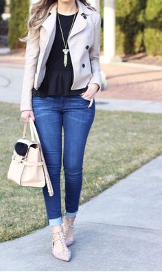 trench jacket and ruffles ~ Lilly Style