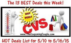 Want a Sneek Peek at our CVS Shopping List for Today (5/10)! If so then make sure and check out the CVS HOT Deals list! This is just the BEST 13 Deals we see at CVS this Week! Click the link below to get the FULL BREAKDOWN of all 13 Deals ► http://www.thecouponingcouple.com/cvs-hot-deals-list-for-5-10-to-5-16-15-just-the-13-best-deals-this-week/  #Coupons #Couponing #CouponCommunity  Visit us at http://www.thecouponingcouple.com for more great posts!